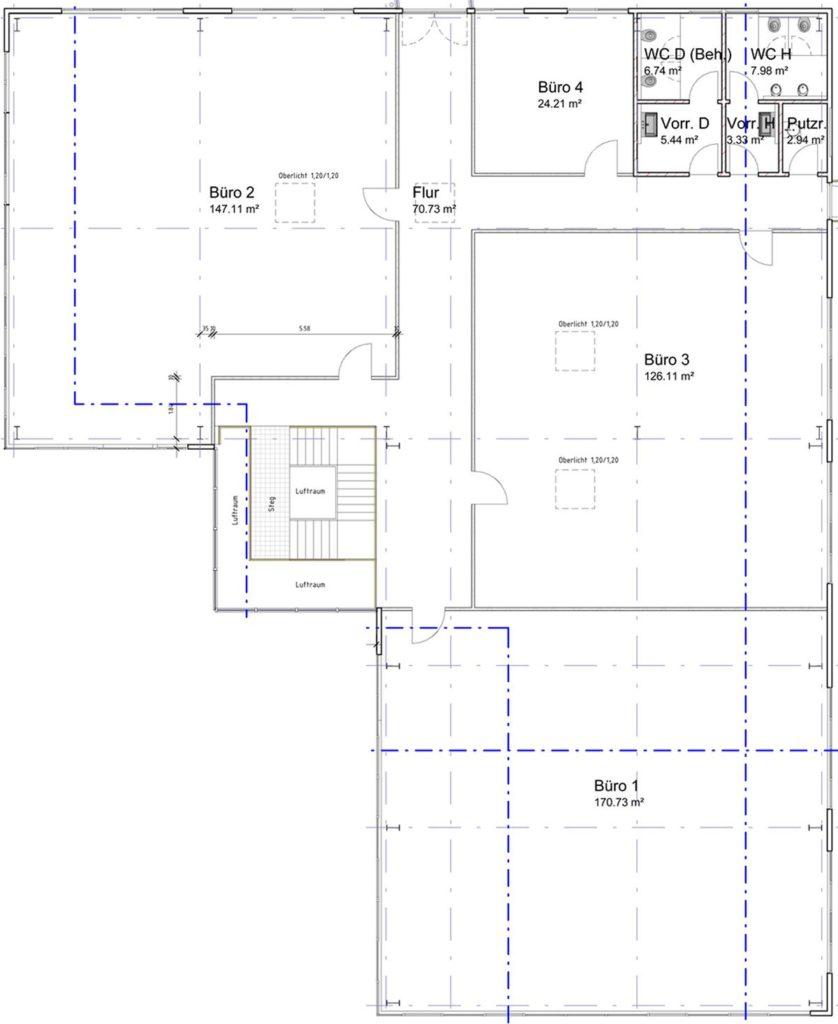 Obergeschoss Raumaufteilung